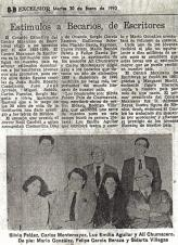 Alí Chumacero y becarios 1990 del Centro Mexicano de Escritores