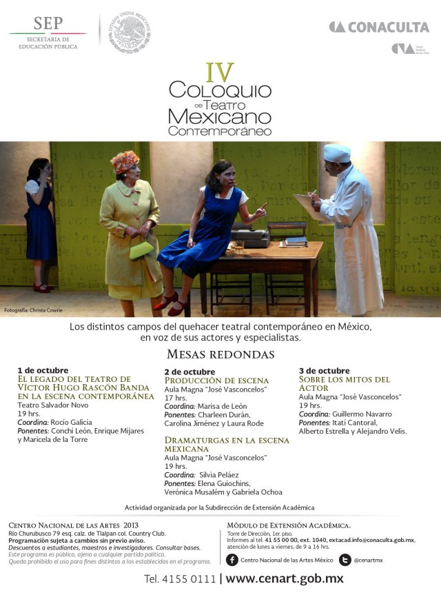 Silvia Peláez coordina y modera mesa Dramaturgas Mexicanas Contemporáneas